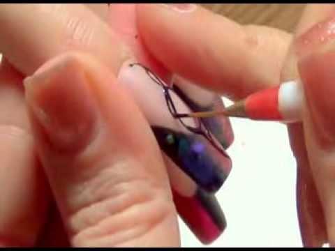 аквариумный дизайн ногтей гелем видео: