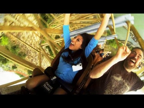 Iron Rattler front seat on-ride rider cam HD POV  Six Flags Fiesta Texas