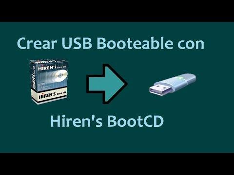 Como Crear USB Booteable con Hirens BootCD.
