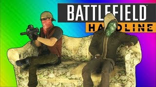 Battlefield Hardline Funny Moments - Couch Easter Egg, C4 Launches, Pictionary!