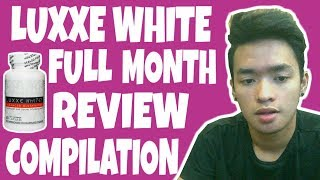 LUXXE WHITE REVIEW COMPILATION FOR A MONTH | Yam Cempron