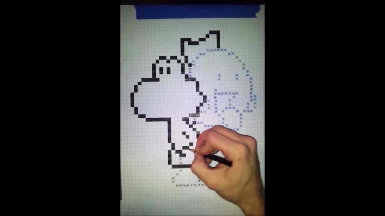 pixel art projects - yoshi and baby king boo - 32x speed timelapse