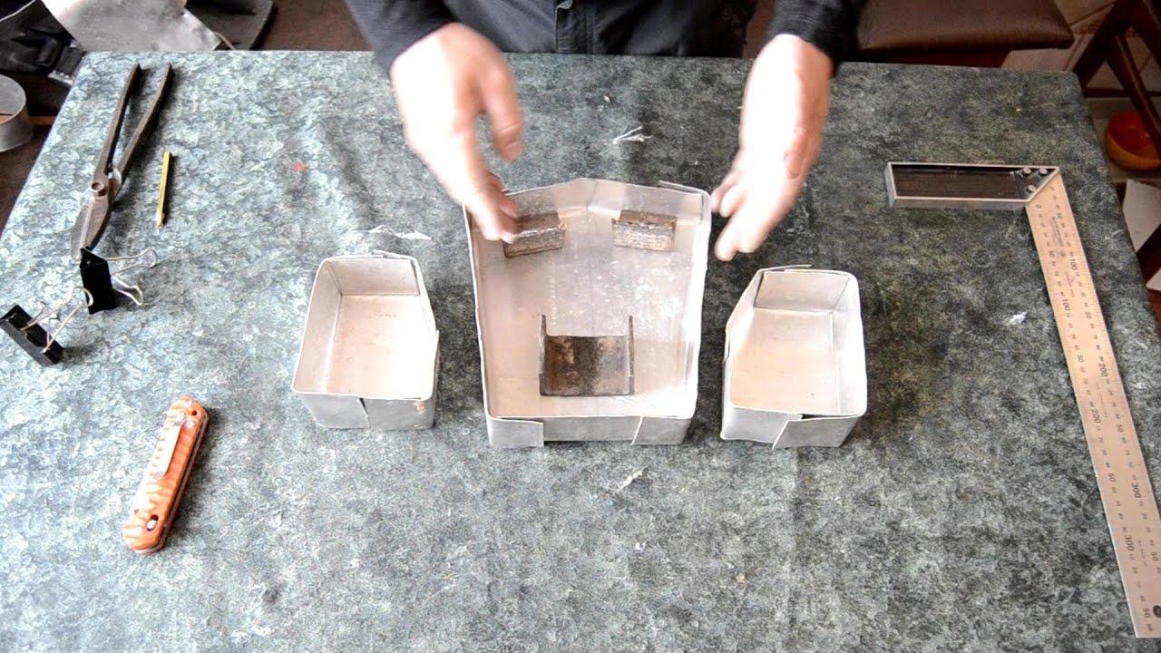 Изготовление форм для литья свинца своими руками видео