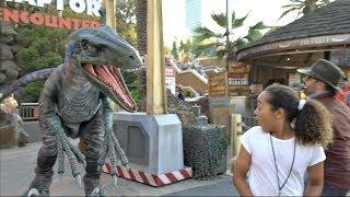 JURASSIC PARK RAPTOR!! Universal Studios Hollywood