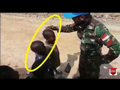 GOKIL Abis|Tentara Indonesia Ngajari Anak Negro Bahasa Sunda