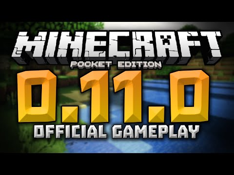 0.11.0 UPDATE GAMEPLAY FOOTAGE & More News!!! - Minecraft Pocket Edition 0.11.0 Update Video