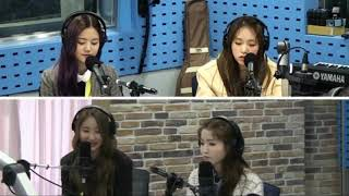 190402 IZONE Chaeyeon mentioned ITZY Chaeryeong @ SBS Choi Hwa Jung's Power Time FM