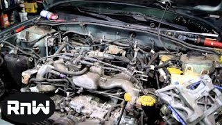 Easy Subaru Engine Removal - Engine Swap or Head Gasket Replacement Part II