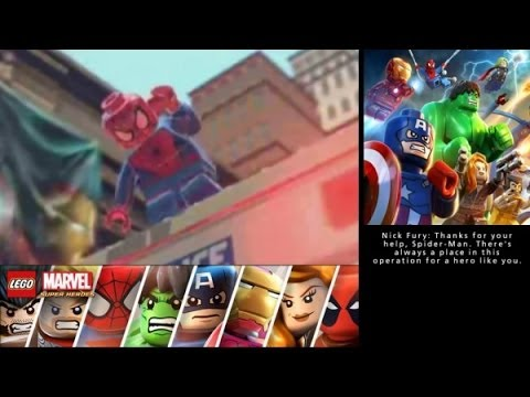 LEGO Marvel Super Heroes: Universe in Peril (3DS/Vita) Walkthrough Part 2 - Sand Central Boss