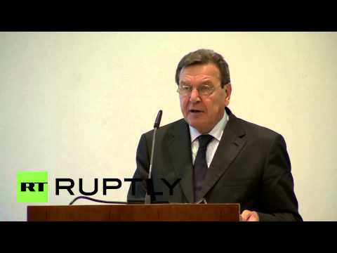 "Germany: ""We need Russia to solve all international challenges,"" says Schroeder"