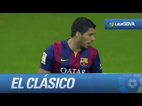 Seguimiento a Luis Suárez en El Clásico en su debut con el FC Barcelona