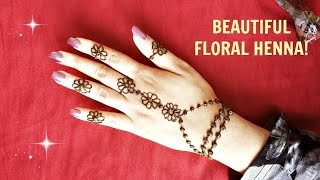 DIY Simple Floral Henna - Beautiful Easy Mehendi Flowers Design - Jewelery Inspired Mehndi Tattoo