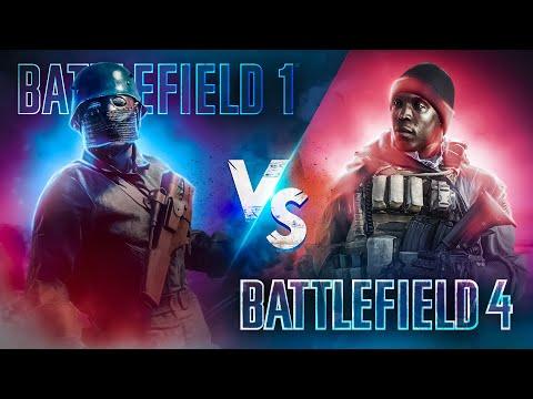 BATTLEFIELD 1 VS BATTLEFIELD 4 (2018)