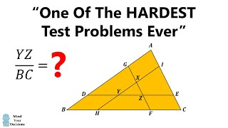 """One Of The Hardest Problems Ever"""