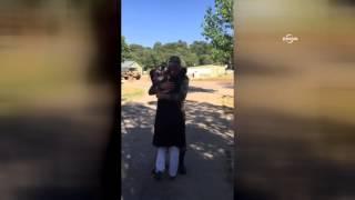 Şehit Kandemir'in annesiyle kucaklaşma görüntüsü yürekleri dağladı