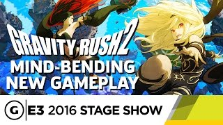 Gravity Rush 2's Mind-Bending New Features Stage Demo - E3 2016 Stage Show