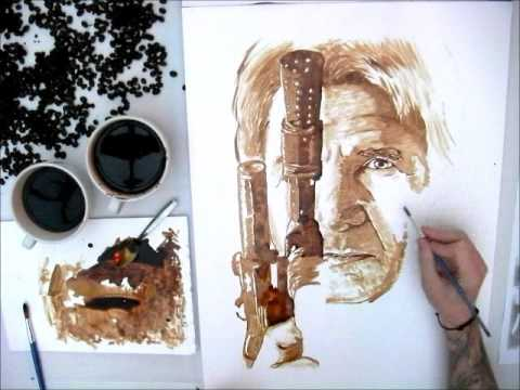 Harrison Ford Han Solo Star Wars Coffee Art