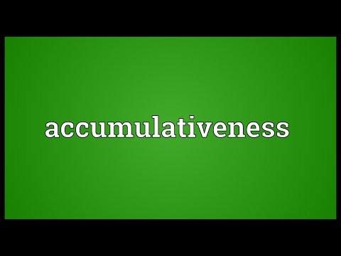 Header of accumulativeness