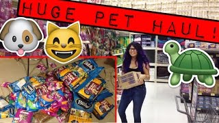 november pet haul! (1 month of food for 20 animals)