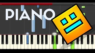 Geometry Dash Back on Track Piano Tutorial Easy Level Midi
