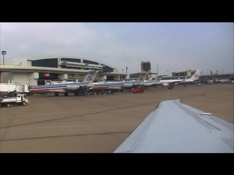 1080p Sunny American Airlines MD-83 Landing in Dallas/Fort Worth!