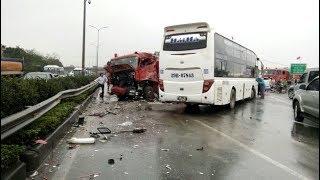 Vụ tai nạn giữa xe khách Hải Hà chuyến 13h30p Và Xe Cứu Hỏa  vào chiều ngày 18-3 trên đường cao tốc