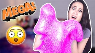MEGA FLUFFY GLITTER SLIJM - DIY! || Science Saturday