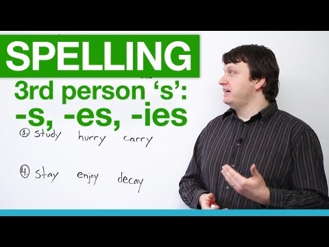 Spelling – Rules for Third Person 'S'