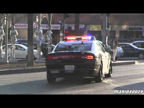 [Hollywood Walk of Fame] LAFD Rescue 827 + LAPD Police car ... 2015 Police Charger