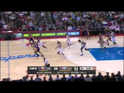 LA Lakers 87 - LA Clippers 123 Full Highlights (01-10-2014)
