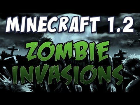 Minecraft - Zombie Invasions & Villager Children (Patch 1.2 pre-release 07b) Music Videos
