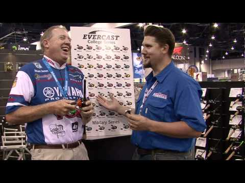 Bass Pro Alton Jones Displays Evercast's College-Themed Baitcasting Reels