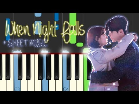 When Night Falls Piano Tutorial Eddy Kim While You Were Sleeping OST 당신이 잠든 사이에  긴 밤이 오면 Sheet Music
