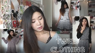 SHEIN CLOTHING HAUL |  TWEED CLOTHING | REVIEW + TRY ON