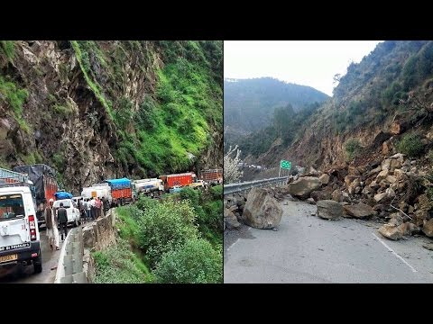 Jammu-Srinagar Highway closed, car falls into gorge in Ramban