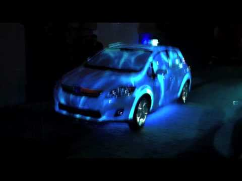 Projection Mapping using a Toyota Auris Hybrid