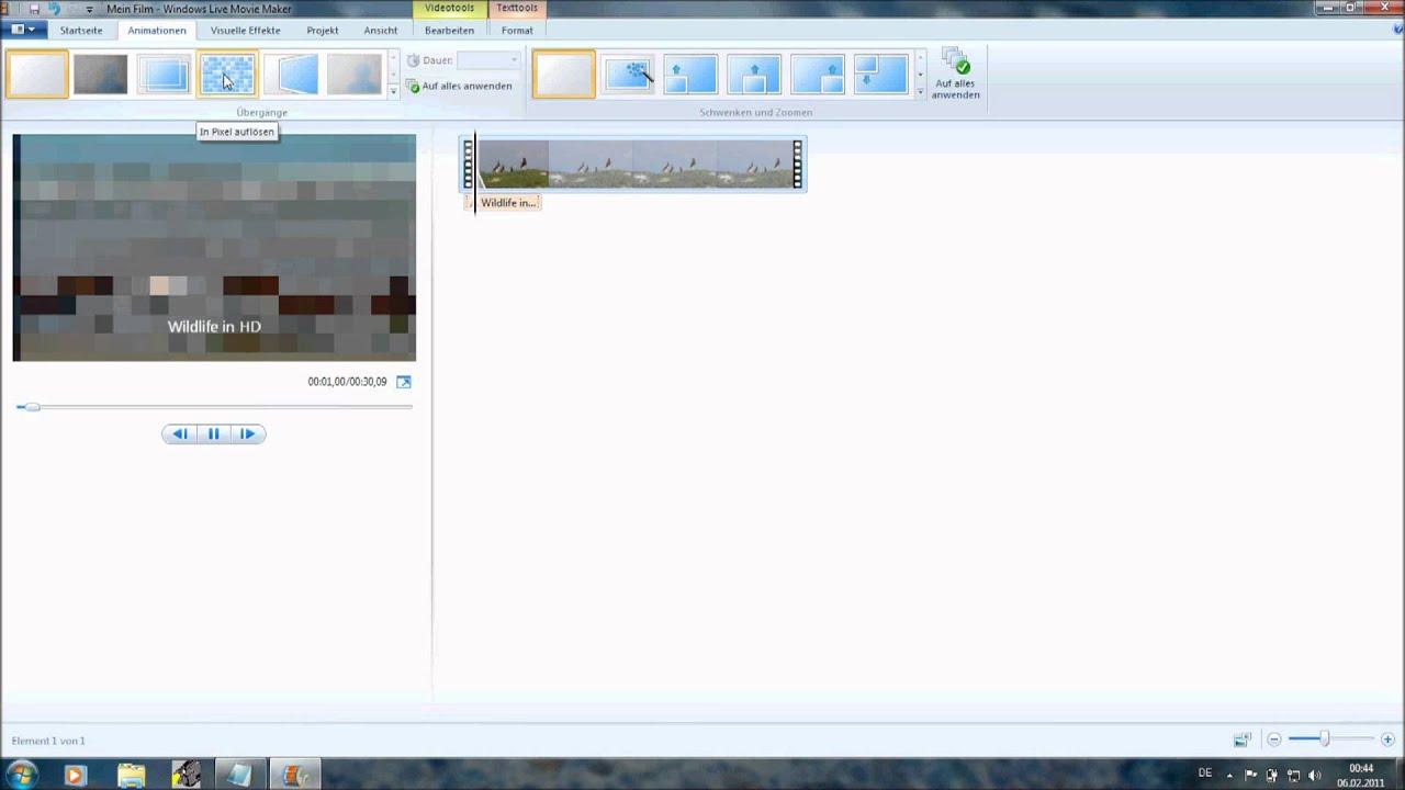Windows 7 Movie Maker Tutorial auf Deutsch - YouTube