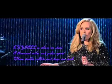 Adele   Skyfall (live at the 85th Academy Awards)(OSCARS 2013)(lyrics)