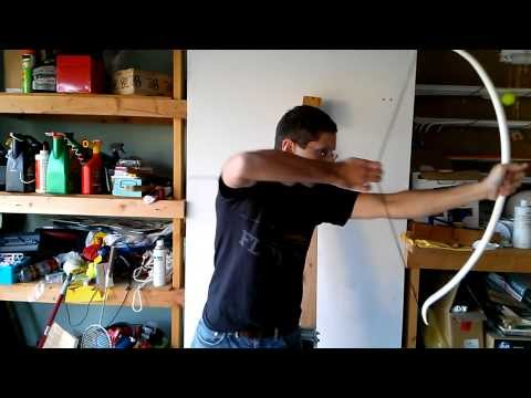 Experimental Fiberglass-Reinforced PVC Recurve Bow