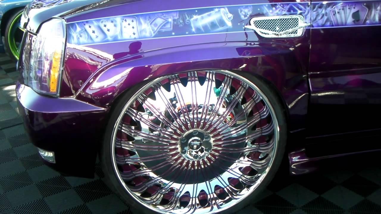 Dubsandtires com 2009 cadillac escalade review 32 inch dub spinners chrome luxury wheels asanti