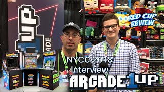 Arcade 1UP NYCC 2018 Product Interview.  Street Fighter 2, Galaga, Rampage, Centipede Arcade Cabinet