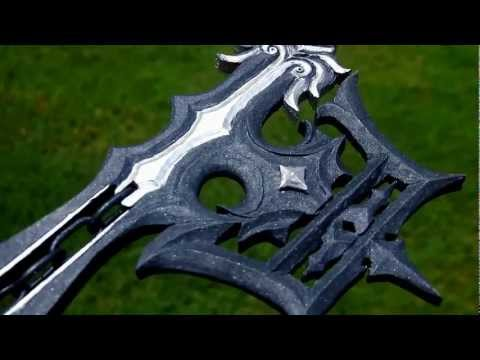 Hand Carved Oblivion Keyblade