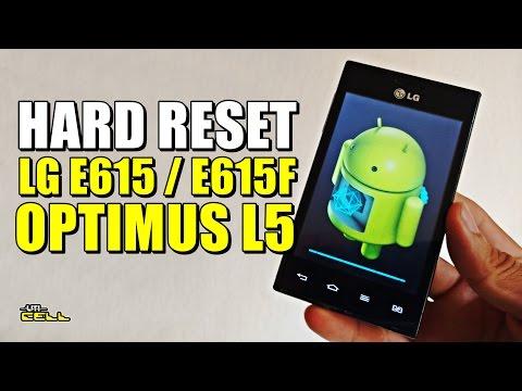 Hard Reset no LG Optimus L5 (E615/E615F) Atualizado #UTICell