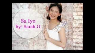 Watch Sarah Geronimo Sa Iyo video