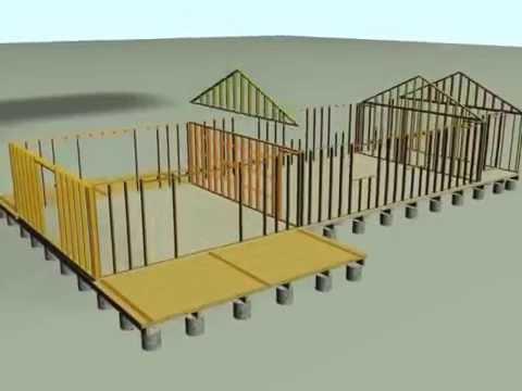 Proceso de construccion casas madera antuco youtube for Planos para construir una casa
