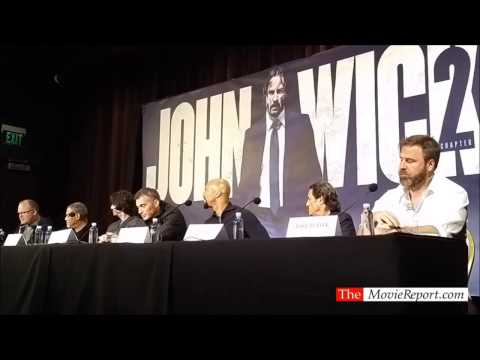 JOHN WICK CHAPTER 2 Talk With Keanu Reeves, Common, Laurence Fishburne - January 27, 2017