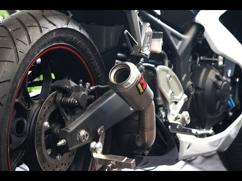 Yamaha YZF R25 - exhaust Akrapovic + DB Killer revs