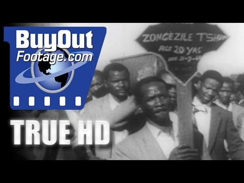 HD Stock Footage Apartheid Crisis in South Africa 1960 Newsreel