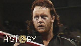 1) أول مباراة لأندرتيكر في WWE