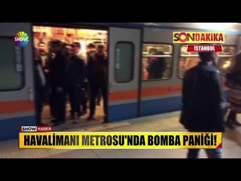 Havalimanı Metrosu'nda bomba paniği!